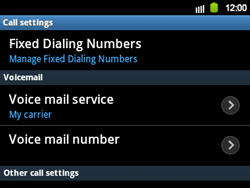 Samsung B5510 Galaxy TXT - Voicemail - Manual configuration - Step 5