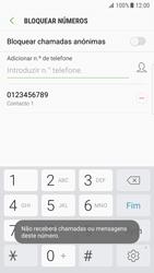 Samsung Galaxy S7 Edge - Android Nougat - Chamadas - Como bloquear chamadas de um número -  11