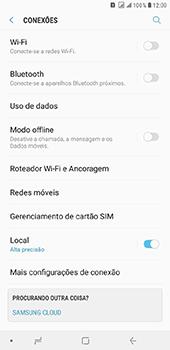 Samsung Galaxy J8 - Wi-Fi - Como configurar uma rede wi fi - Etapa 5
