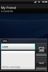 Sony Ericsson Xperia Mini Pro - Mms - Sending a picture message - Step 8
