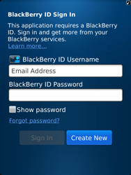 BlackBerry 9810 Torch - BlackBerry activation - BlackBerry ID activation - Step 6