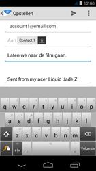 Acer Liquid Jade Z - E-mail - Hoe te versturen - Stap 8