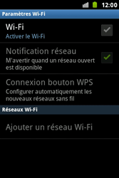 Samsung S7500 Galaxy Ace Plus - Wifi - configuration manuelle - Étape 5