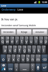 Samsung S5690 Galaxy Xcover - E-mail - Hoe te versturen - Stap 9