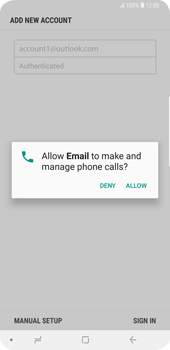 Samsung Galaxy S9 Plus - E-mail - Manual configuration (outlook) - Step 9