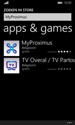Microsoft Lumia 532 - Applicaties - MyProximus - Stap 7