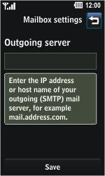 LG GD510 Pop - E-mail - Manual configuration - Step 9