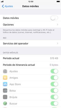 Apple iPhone 8 Plus - Internet - Activar o desactivar la conexión de datos - Paso 5