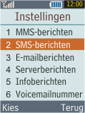 Samsung B2100 Xplorer - SMS - Handmatig instellen - Stap 5