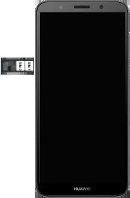 Huawei Y5 (2018) - Premiers pas - Insérer la carte SIM - Étape 6