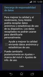 Sony D2203 Xperia E3 - Primeros pasos - Activar el equipo - Paso 12