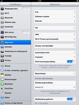 Apple iPad 4 - WiFi - Handmatig instellen - Stap 4