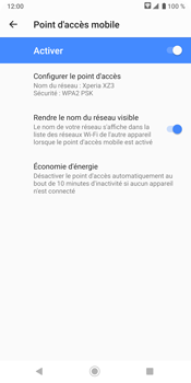 Sony Xperia XZ3 - Internet - comment configurer un point d'accès mobile - Étape 11