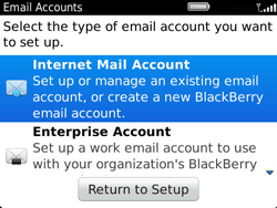 BlackBerry 9360 Curve - E-mail - Manual configuration - Step 5