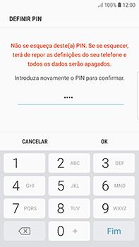 Samsung Galaxy S7 Edge - Android Oreo - Segurança - Como ativar o código de bloqueio do ecrã -  10