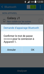 Samsung J100H Galaxy J1 - Bluetooth - connexion Bluetooth - Étape 9