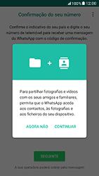Samsung Galaxy A5 (2017) - Aplicações - Como configurar o WhatsApp -  6