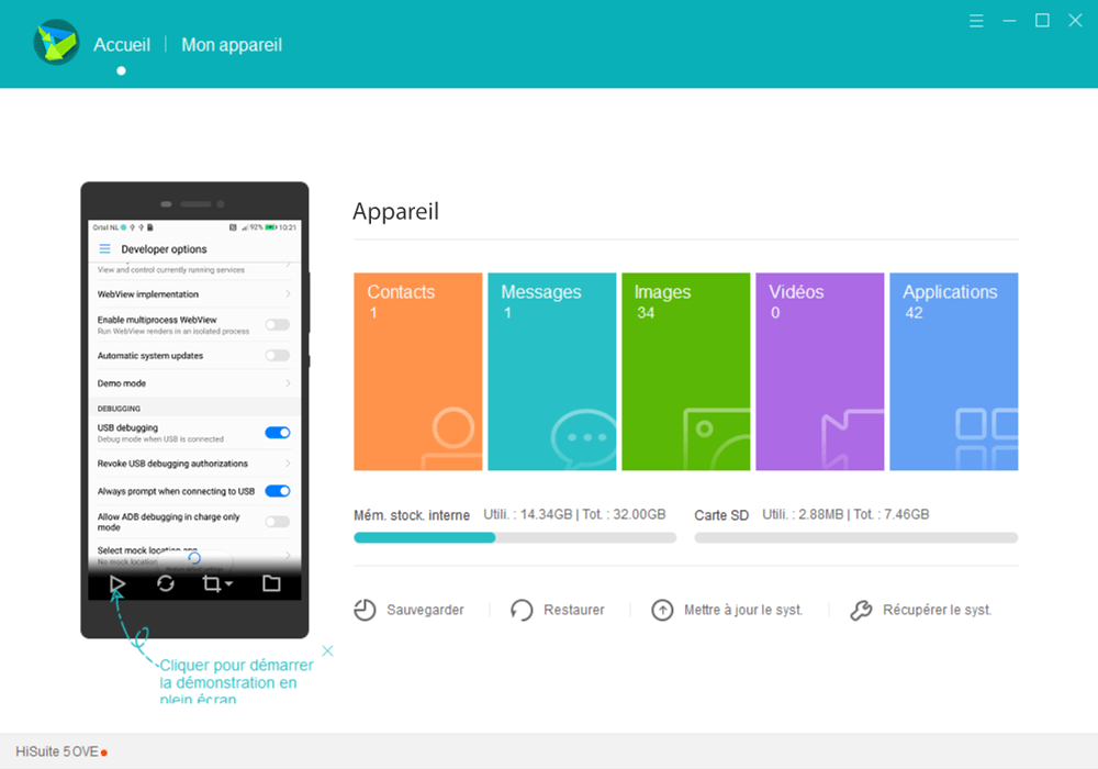 Huawei Mate 20 lite - Photos, vidéos, musique - Récupérer vos contenus multimédias avec un ordinateur - Étape 6