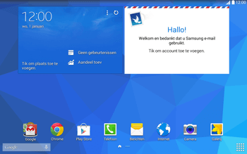 Samsung T535 Galaxy Tab 4 10-1 - E-mail - Account instellen (IMAP met SMTP-verificatie) - Stap 1