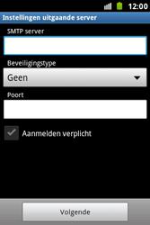 Samsung S7500 Galaxy Ace Plus - E-mail - Handmatig instellen - Stap 13