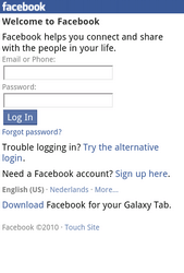 Samsung S5830 Galaxy Ace - Internet - Popular sites - Step 5