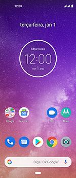 Motorola One Vision - Funções básicas - Como restaurar as configurações originais do seu aparelho - Etapa 1