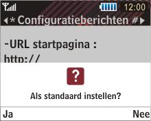 Samsung B3210 Corby TXT - Automatisch instellen - Automatisch Internet instellen - Stap 5