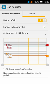 Alcatel Pop C9 - Internet - Ver uso de datos - Paso 11