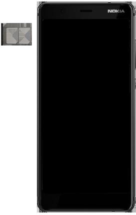 Nokia 5.1 - Toestel - simkaart plaatsen - Stap 3