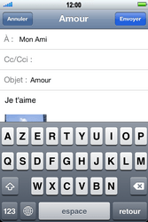 Apple iPhone 4 S - E-mail - Envoi d