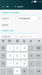 Huawei Y5 - Contact, Appels, SMS/MMS - Ajouter un contact - Étape 7