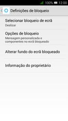 Alcatel Pixi 3 - Segurança - Como ativar o código de bloqueio do ecrã -  5