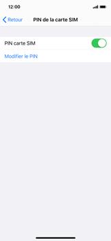 Apple iPhone XS - iOS 13 - Sécurité - modifier SIM PIN - Étape 12