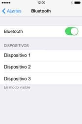 Apple iPhone 4S iOS 7 - Bluetooth - Conectar dispositivos a través de Bluetooth - Paso 5
