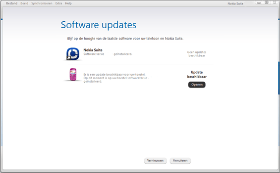 Nokia Asha 300 - Software - Installeer firmware update - Stap 5