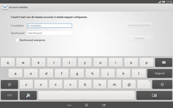 Sony Xperia Tablet Z2 (SGP521) - E-mail - e-mail instellen: IMAP (aanbevolen) - Stap 5