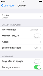 Apple iPhone 5s iOS 10 - Email - Adicionar conta de email -  10