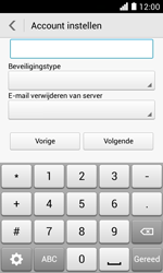 Huawei Ascend Y330 - E-mail - Account instellen (POP3 zonder SMTP-verificatie) - Stap 11
