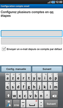 Samsung P1000 Galaxy Tab - E-mail - Configuration manuelle - Étape 5