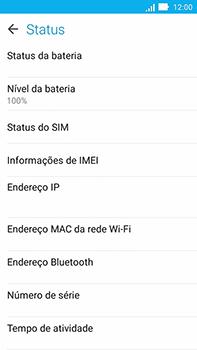 Asus Zenfone Go - Primeiros passos - Como encontrar o número de IMEI do seu aparelho - Etapa 6