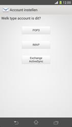 Sony D5503 Xperia Z1 Compact - E-mail - e-mail instellen: IMAP (aanbevolen) - Stap 7