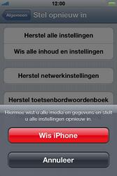 Apple iPhone 4 met iOS 5 - Probleem oplossen - Toestel resetten - Stap 6
