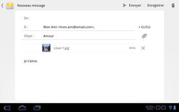 Huawei Mediapad S7-301u - E-mail - Envoi d
