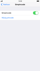 Apple iPhone 6s met iOS 11 (Model A1688) - Beveiliging en ouderlijk toezicht - Hoe wijzig ik mijn SIM PIN-code - Stap 5