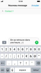 Apple iPhone SE - iOS 11 - Contact, Appels, SMS/MMS - Envoyer un SMS - Étape 8