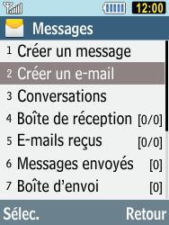 Samsung C3590 - E-mails - Envoyer un e-mail - Étape 4