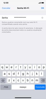 Apple iPhone iOS 12 - Wi-Fi - Como usar seu aparelho como um roteador de rede wi-fi - Etapa 5