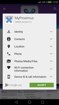 Huawei Mate S - Applications - MyProximus - Step 7