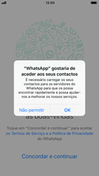 Apple iPhone 7 - iOS 12 - Aplicações - Como configurar o WhatsApp -  5