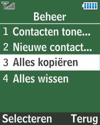 Samsung E1270 - Contacten en data - Contacten kopiëren van SIM naar toestel - Stap 5
